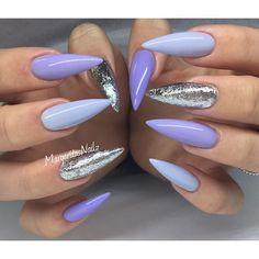💜💜💜 @vetro_usa 💅🏼✨#stilettonails #gelnails #nails #MargaritasNailz #nailart #nailfashion #vetrogel #valentinobeautypure #teamvalentino #nailsmagazine #silverleaf #glitter #purple #nailedit #nailsofinstagram #nailsoftheday #nailaddict #nailstagram #naillove #nailprodigy #nailpromagazine