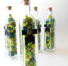 Minecraft Creeper Bottle Idea
