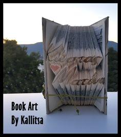 Δώρο ♥ Ονόματα ♥ Ζευγάρι ♥ Κώστας ♥ Ματίνα ♥ Αγάπη ♥ Έρωτας ♥ Βιβλίο ♥ Book Folding ♥ Book Art ♥ Book Art By Kallitsa #bookfolding #bookart #anniversarygift #names #love #anniversary