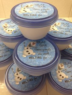 Glitter Olaf GAK (goo): Made with Borax, water, and white school glue