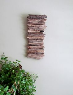Driftwood Hanging Art Driftwood Wall Hanging by DriftingConcepts. (Do with Twigs?)