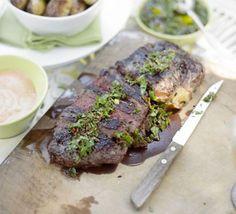 Seared steak with chimichurri dressing