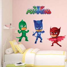 PJ Masks Catboy Gecko Owlette Kids Boy Girls Bedroom Vinyl Decal Sticker Gift