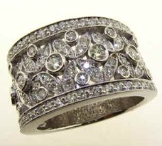 Perfect Wide wedding band with filigree design cts UN FR scyc