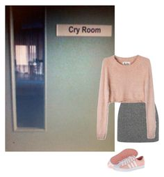 """""""cry room"""" by bahnhof ❤ liked on Polyvore featuring T By Alexander Wang, For Love & Lemons and adidas Originals"""