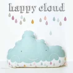 So Fofo - Happy Cloud Pillow, $40.00 (http://www.sofofo.com.au/happy-cloud-pillow/)