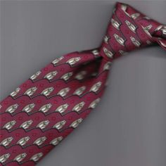 d8fc91555a4e $39 MORE THAN FAIR HERMES TIE 7167 SAGE GREEN WHITE WISE OWLS WINE RED 3.2 X
