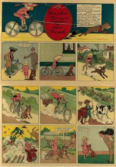 Richard Felton Outcault – Buster Brown acquires a new bicycle (1904)