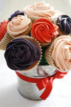 Cupcake Bouquet by There for the Baking, via Flickr