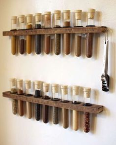 Great, easy kitchen tips. Like test tube spice rack. Or using a straw to prep your strawberries.