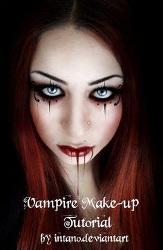 Great vampire look. This site has some fun Halloween makeup tutorials