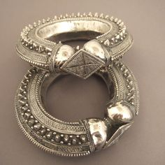 """2 splendid cuffs in silver from Sana'a in Yemen (late19th century)...www.halter-ethnic.com...today on my website Under the item """"My Lucky Finds"""""""