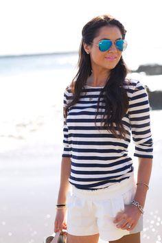 Beachy stripes.