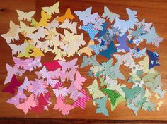 Butterfly confetti, paper confetti, 4 colours to choose from, mixed colour confetti , tags, by PinkyPromiseBargains on Etsy