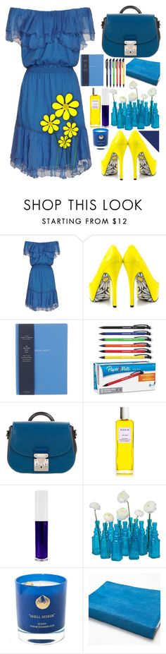 """""""Yellow Flowers"""" by turikinga ❤ liked on Polyvore featuring Designers Remix, TaylorSays, Smythson, Paper Mate, Louis Vuitton, Rodin, Obsessive Compulsive Cosmetics, Cultural Intrigue, Zara Home and flower"""