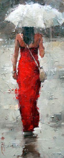 """""""Midsummer Drizzle"""" by Andre Kohn www.andrekohn.com /Andre Kohn Fine Art Gallery is now open in Scottsdale, Arizona."""