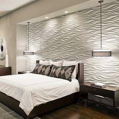 15 Unique and Interesting Bedroom Walls | 3d wall panels, 3d wall and 3d