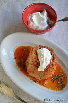 Ardei umpluti reteta strabunicii Savori Urbane (22) Romanian Food, Romanian Recipes, Tasty, Yummy Food, Thai Red Curry, Spices, Food And Drink, Low Carb, Cooking Recipes