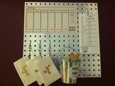 Uncommon Goods Kids Responsibility Board -  can easily make this