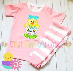 "CUSTOM MADE EASTER ROMPER W// BUNNY /& BABY CHICK FOR 18/""  DOLL"
