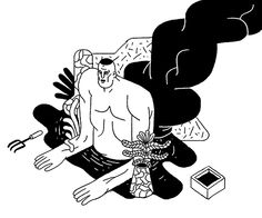 Nicolas Menard - Late Night Work Club Research Illustration Drawing