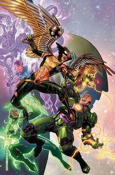 The Hawkgirl DC comic original art print 11x17 signed by artist Scott Harben