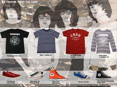 The Ramones tees fashion look books and style Kenneth buddha Jeans.