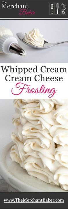 Absolutely my favorite Whipped Cream Cream Cheese Frosting! A wonderful combination of two favorites, you'll use this creamy, not too sweet frosting for much more than topping cakes. Just Desserts, Delicious Desserts, Dessert Recipes, Yummy Food, French Desserts, Party Desserts, Health Desserts, Food Cakes, Cupcake Cakes
