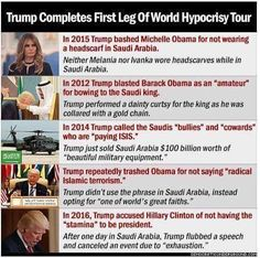 And then later rode in a golf cart while other world leaders walked because he couldn't move his fat ass on his own.