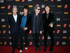"Charlie Watts, Keith Richards, Ronnie Wood and Mick Jagger of The Rolling Stones attend ""The Rolling Stones Crossfire Hurricane"" Premiere at Ziegfeld Theater on November 13, 2012 in New York City. The Rolling Stones. #KeithRichards #TheRollingStones #RonnieWood #CharlieWatts #MickJagger #Crossfire #Hurricane #CrosseyedHeart #Trouble"
