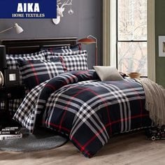 cotton queen king size bedclothes plaid stripe bed sheet set bedding set /bedclothes duvet cover pillowcase-in Bedding Sets from Home & Garden on Aliexpress.com | Alibaba Group