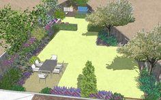 garden design awkward shape - Google Search