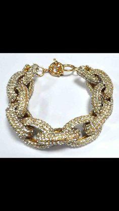 Crystal Pave Link Bracelet. $35.00, via Etsy.