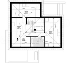 Projekt domu Hiacynt 210,18 m2 - koszt budowy - EXTRADOM House Plans Mansion, Dream House Plans, Bungalow House Design, Modern House Design, Small Apartment Plans, Architect Design House, Modern Family House, Beautiful House Plans, Model House Plan