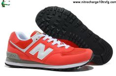 Sale Discount New Balance NB 574 Five Rings series White Red For Men shoes For Sale