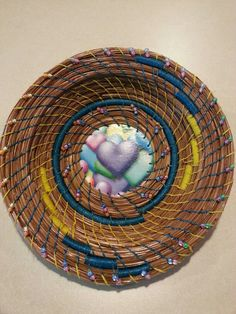 Pine needle basket. Lynne Campbell