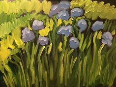 Auction Ends Tomorrow! Original 18x24 Oil on Canvas by Tim Bruneau! Bids Start One Penny! Artist Gardens & Floral Oil Original Tim Bruneau Impressionism Signed #Impressionism