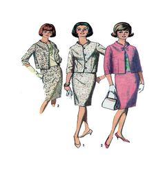 60s Jacki O Style Three Piece Suit by FindCraftyPatterns on Etsy