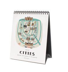 2014 Flip Around The World Spiral-bound Desk Calendar [frame pages for office?!]