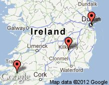 MAP of IRELAND  Ancestors from Tralee