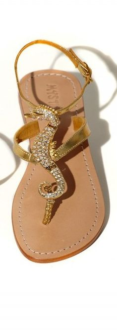 Mystique Sandals with Swarovski seahorse♥✤ | Keep the Glamour | BeStayBeautiful