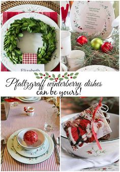 #Pfaltzgraff #winterberry dishes and #tablescape ideas.