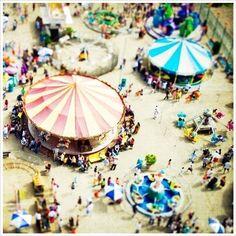 Items similar to Carnival Photography // Carousel Art Print // Coney Island Photography, Nursery Decor // Carousel Photography // Kids Room Art - Carnivale on Etsy Tilt Shift Photography, Art Photography, Vintage Photography, Aerial Photography, Miniature Photography, Contemporary Photography, Tatto Shop, Carnival Photography, Carrousel
