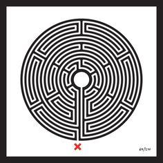 Mark Wallinger - Labyrinth 64 (Waterloo)