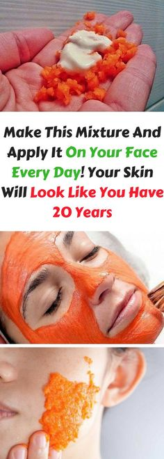 Make This Mixture And Apply It On Your Face Every Day! Your Skin Will Look Like You Have 20 Years