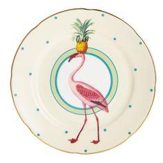 Buy Yvonne Ellen Pineapple Flamingo Cake Plate, Multi, Dia.16cm Online at johnlewis.com