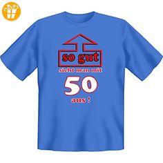 FUN T-SHIRT ZUM GEBURTSTAG: So gut sieht man mit 50 aus! - Gr. XXL - Farbe hellblau - Shirts zum 50 geburtstag (*Partner-Link)