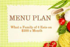 Budget Meal Plan