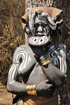 Africa | People. Mursi woman - Omo valley, Ethiopia.
