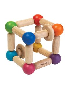 Babyleksak i Trä Plantoys - Square Clutching Toy